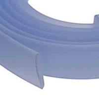 Flaches PVC-Band 10 x 2 mm, hellblau, 1 m