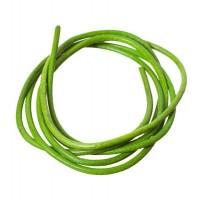 Lederband, 2 mm, Länge 1 m, hellgrün