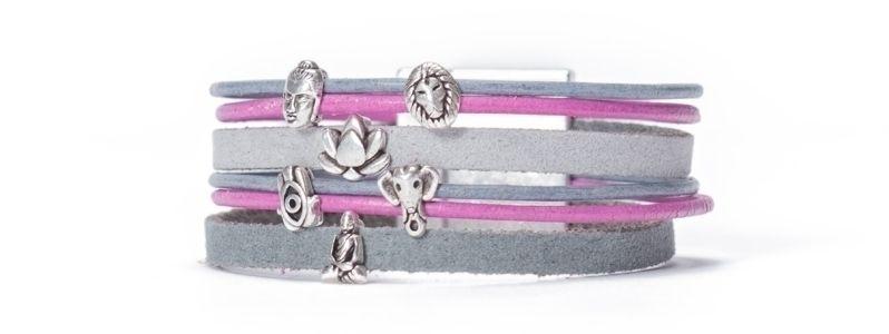 Armband mit neuen Mini-Slidern versilbert I