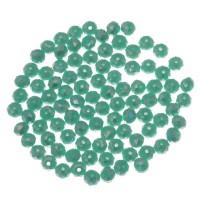 Strang Glasfacett  Rondell, 4 x 6 mm, turquoise AB, Länge des Strangs ca. 40 cm