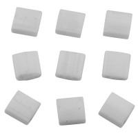 Miyuki Tila Bead 5 mm, opaque white, Röhrchen mit ca. 7,2 gr