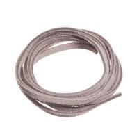 Velourlederband, 2 x 2,8 mm, Länge ca. 1 m, natur