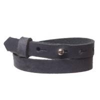 Craft Lederarmband für Sliderperlen, Breite 10 mm, Länge 39 - 40 cm, navy