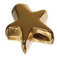 Metallperle, Stern, ca. 10 mm, vergoldet