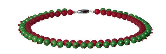 Weihnachtskette Grün-Rot