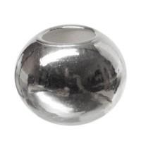 Metallperle Kugel, ca. 7 mm, versilbert
