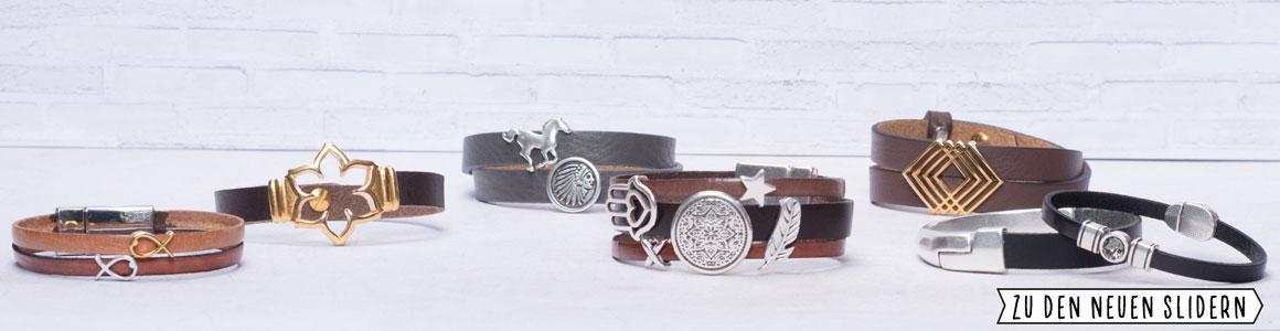 Ideen für Armbänder mit Sliderperlen