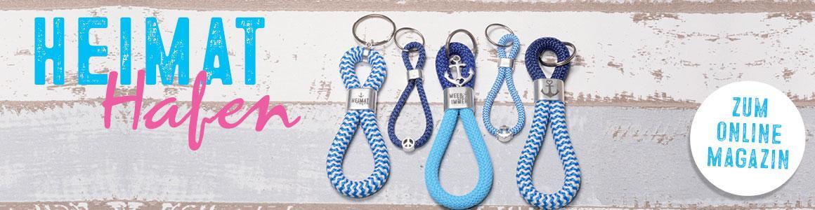 Schlüsselanhänger aus Segelseil