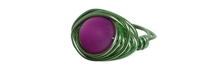 Wickel-Ring Grün-Fuchsia