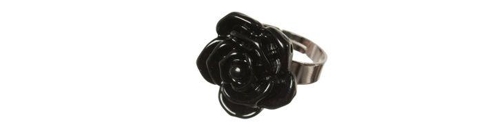 """Ring """"Kleine Schwarze Rose"""""""