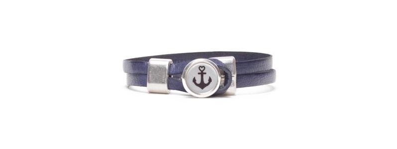 Armband mit bedrucktem Cabochons Anker