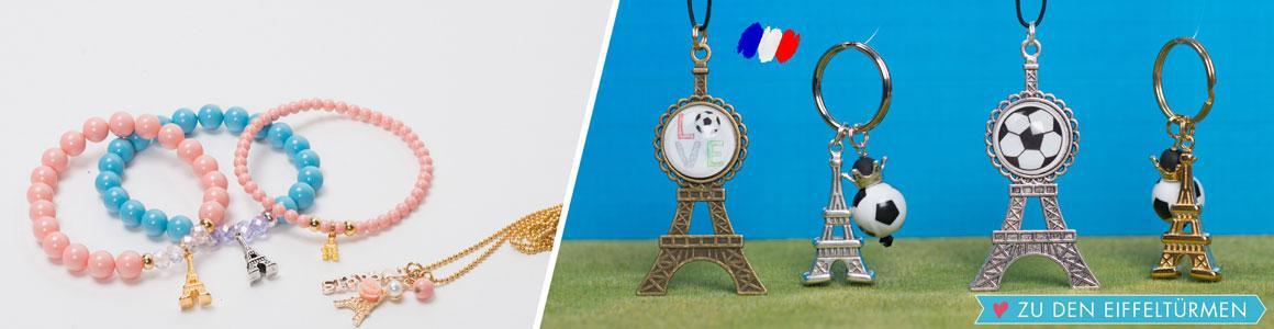 Ideen für Schmuck mit Eiffelturm-Anhängern