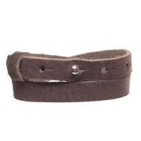 Craft Lederarmband für Sliderperlen, Breite 10 mm, Länge 39 - 40 cm, coffee
