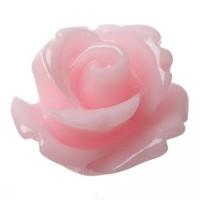 Kunststoffcabochon Rose, 10 x 6 mm, rosa