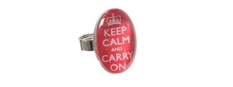 Motivring Keep Calm Rot