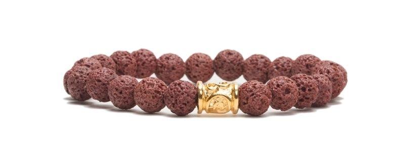 Armband bunte Lava Braun mit Walze