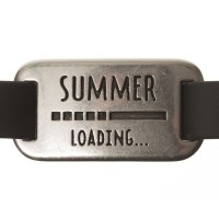 "Metallanhänger / Armbandverbinder, ""Summer Loading"", 35 x 18 mm, versilbert"