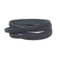 Craft Lederband, 5 mm x 1,5 mm, Länge 1 m, Black