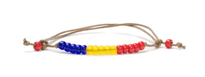Armbänder mit Rocailles Länderspiel Rumänien