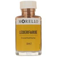 Morello Lederfarbe, Flasche mit Auftragepinsel, 40 ml,  Granit