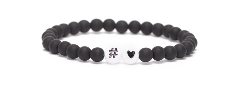 Buchstabenarmband Hashtag Herz