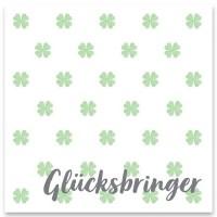 """Schmuckkarte """"Glücksbringer"""", quadratisch, Größe 8,5 x 8,5 cm"""